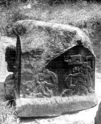 Vista lateral del altar cinco de La Venta