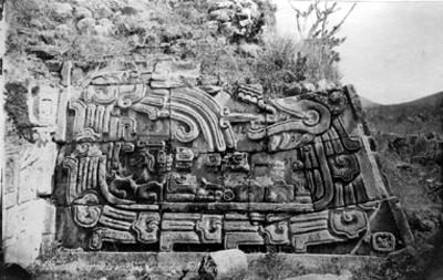 """""""Lado sur de la escalera""""de la Pirámide de las Serpientes Emplumadas en """"Xochicalco"""", reprografía"""