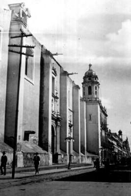 Vista de la Iglesia de la Santisima Trinidad, Puebla