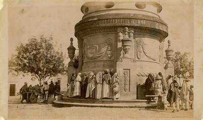 """Aguadores en la caja de agua de San Luis Potosí, """"Aguadors at the fountain San Luis Potosí"""""""