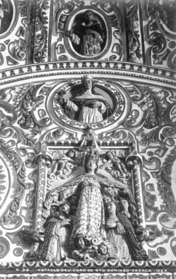 """""""Detalle de la decoración del coro"""" del Convento Santo Domingo"""