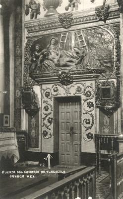Puerta del camarín de Tlacolula