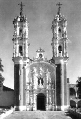 Santuario de Ocotlán en Tlaxcala, tarjeta postal
