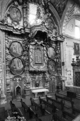 Retablo en la iglesia de Santa Rosa Viterbo, tarjeta postal