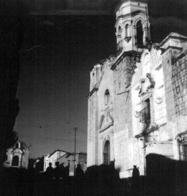 Vista lateral de la Iglesia de San José en Oaxaca