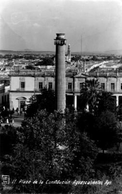 Plaza de la Constitución y Palacio Municipal de Aguascalientes, tarjeta postal