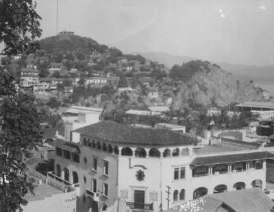 Vista panorámica de Manzanillo, tarjeta postal