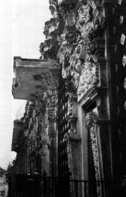 Casa de Alfeñique, fachada, detalle arquitectónico
