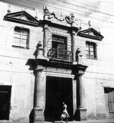 Vista de la casa del Dean en Puebla, fachada