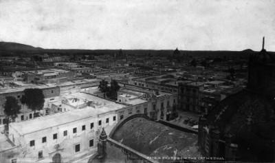 """Ciudad de México, desde el oriente de la Catedral. """"5270. N. East from the Cathedral"""""""