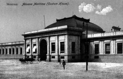 """Veracruz. Aduana Maritima (Custom House)"", tarjeta postal"