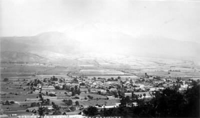 """Popocatépel desde el santuario de Sacromonte, """"Popocatepetl from Sacromonte"""""""