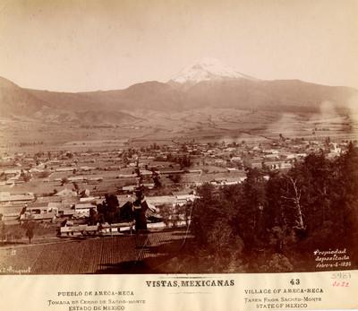 Vistas Mexicanas. 43. Pueblo de Amecameca. Tomada del cerro de Sacro-monte