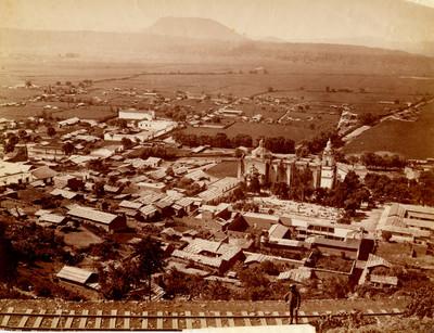 Panorámica del pueblo de Ocoyoacac, Estado de México