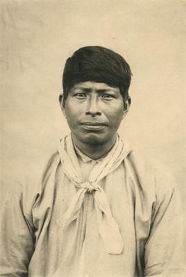 Indio Huave de frente, retrato