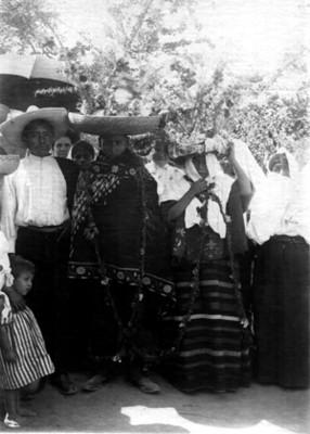 Boda Indígena, retrato de grupo