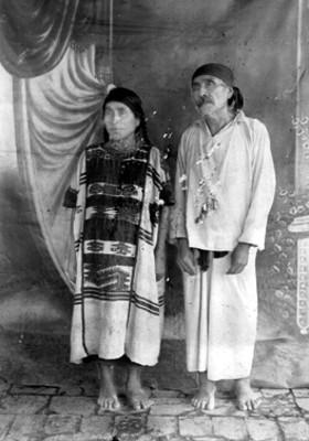 Indígenas de la villa de ojitlán Distrito de Tustepec Raza Chinanteca, pareja
