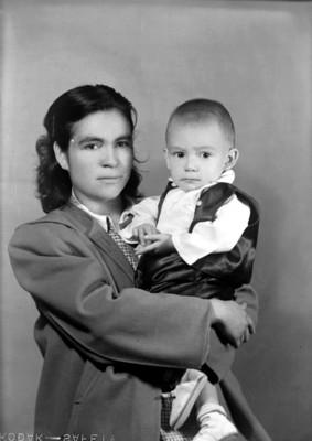 Madre é hijo, retrato