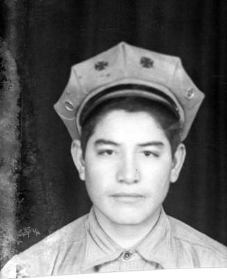 Joven con gorra, retrato