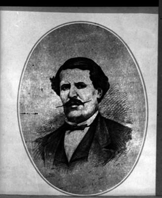 Jesús González Ortega, militar y político, reprografía de un grabado