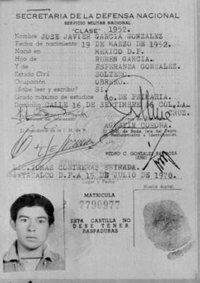 Cartilla de José Javier García González