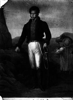 Vicente Guerrero, precursor de la Independencia de México, pintura de caballete, retrato