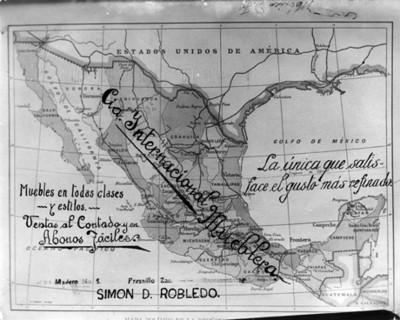 Mapa político de la República Mexicana, reproducción