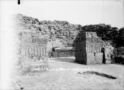 Altar del templo de Dios Ometoxtli, vista frontal