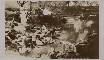 "Lavanderas, ""6277. Washing at the hot springs"""