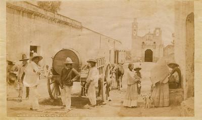 6449. A street scene in Ixtacalco [sic]