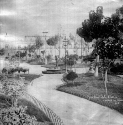 """""""Jardín del Atrio, Catedral de México"""", vista parcial"""