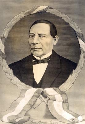 Benito Juárez, retrato al óleo, reprografía