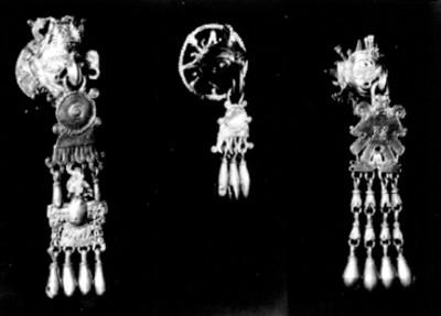 Colgantes de oro prehispánicos de Monte Albán