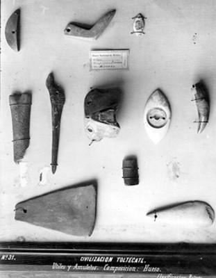 Objetos prehispánicos de hueso, colección