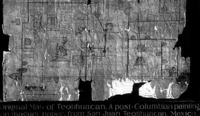Mapa colonial de Teotihuacán