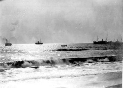 Botes en la playa de San Benito