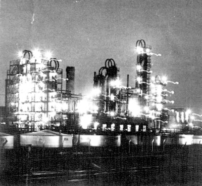 Planta industrializadora de petróleo