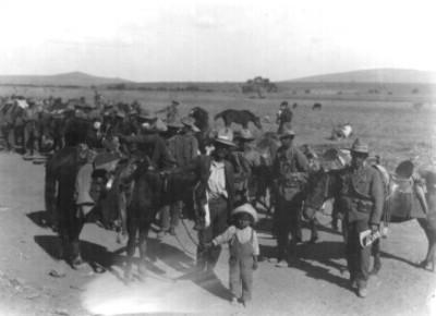 Soldados combatientes durante la rebelión de la huertista