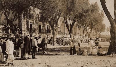 Cuerpo de infantería en maniobras en la hacienda de Peotillos