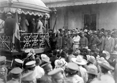 Vista de uno de los recorridos de Álvaro Obregón en su campaña contra la rebelión de la huertista
