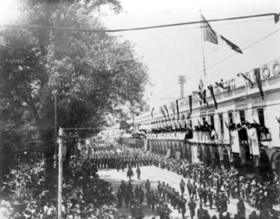 Caballería militar durante el desfile conmemorativo de la Independencia