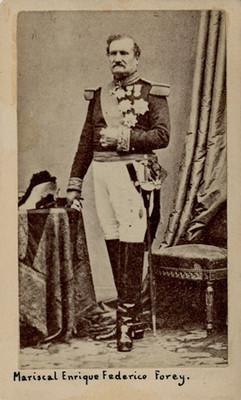 Mariscal Elias Federico Forey, tarjeta de visita