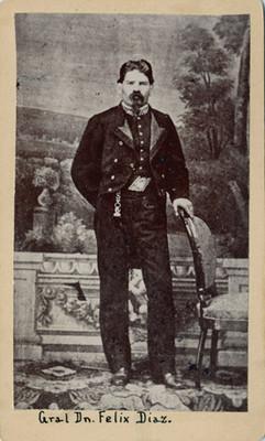 """""""Gral. Dn. Félix Díaz"""", tarjeta de visita"""