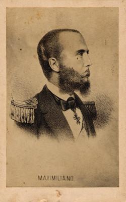 """""""Maximiliano"""" de Habsburgo, tarjeta de visita"""