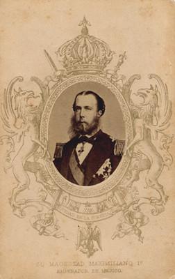 """""""Su Magestad Maximiliano 1o., Emperador de Mejico (sic)"""", tarjeta de visita"""