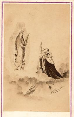 Alegoría de Maximiliano y Carlota ante la virgen de Guadalupe