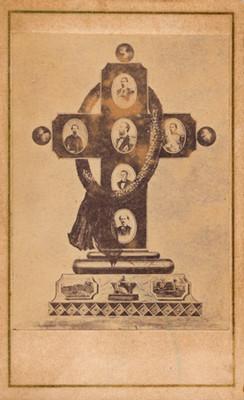 Alegoría luctuosa de Maximiliano, con retratos de otros personajes, reprografía