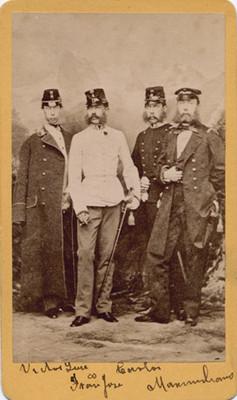 Luís Victor, Francisco José, Carlos Luis y Maximiliano, archiduques de Austria