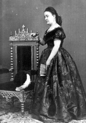 Angela Peralta, cantante de ópera, tarjeta de visita