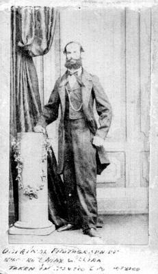 Fernando Maximiliano José María de Habsburgo, tarjeta de visita